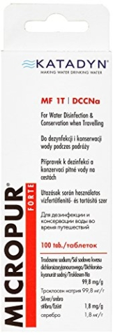 Katadyn Wasserdesinfektion Micropur Forte MF 1T - 100 Tabletten, 99,8 mg/g -