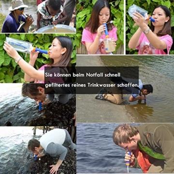 Wasserfilter Outdoor, ECHTPower 1500L Mini Tragbarer Persönlicher Wasserfilter Wasseraufbereitung Wasserreiniger für Wandern, Trekking, Camping, Reisen und Notbereitschafts, Survival Kit -
