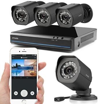 Zmodo CCTV 4 Kanal Überwachungskamera Set