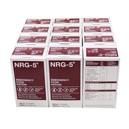 12 Pakete NRG 5 Notfallnahrung a' 500g 12 Pakte a' 9 Riegel - 1