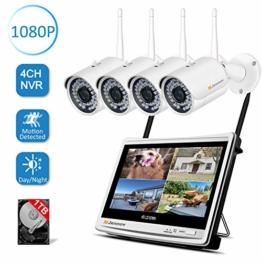 jennov-4ch-ueberwachungskamera-set-1080p-hd-nvr-wireless-ueberwachungssystem-mit-4-x-sicherheitskamera-12-zoll-lcd-monitor-bewegungsmelder-1tb-festplatte-app-fernzugriff-ir-nachtsicht-fuer-aussen-inne