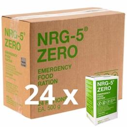 Notverpflegung 24x NRG-5 ZERO Glutenfrei Survival 500g Notration Notvorsorge | 24x9 Riegel im Vorteilskarton Survivalnahrung Expeditions Grundausstattung wie EPA - 1