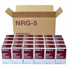 Notverpflegung, Krisennahrung, NRG-5, 1 Karton mit 24 Packungen a 500 g, (9 Riegel) - 1