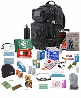 TSK Medical Ltd Eine Person - Überlebensrucksack - 30L - Notgepäck Fluchtrucksack (Black)