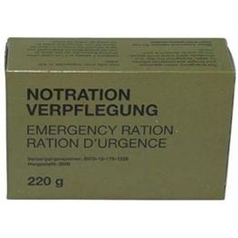 Armeeverkauf BW Notration 4 Packungen 2,84 /100g - 1