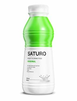 Astronautennahrung SATURO, Original, 500 kcal, Trinkmahlzeit mit Hochwertigem Protein, Mahlzeitersatz Vegan, 12 x 500 ml - 1
