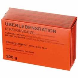 BKL1 BW Überlebensration 1 Pack 200g 4 Riegel EPA Notration mit Dosenöffner 2094 - 1