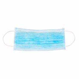 Dr. Mosers COROSAVE Einweg OP-Maske - Mundschutz | Medizinische Qualität ≥ 98% Filterleistung Typ II, 3-lagig | Atemschutz | Hygiene-Maske (10, blau) - 1