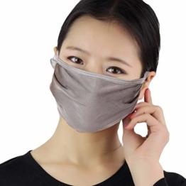 Time COVER Seidenmaske Moderne Schutzmaske für Atemschutz, Mundschutz, Staubschutz Damen/Herren Unisex Geeignet - 1
